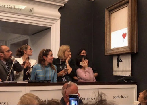 Girl with Balloon at Auction